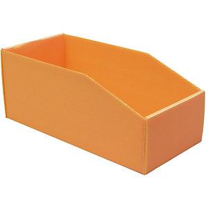 25 Bacs pliables polypro 9L Orange
