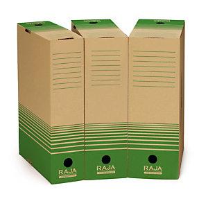 25 boites archives 100 % recyclées Raja dos 8 cm coloris brun, le lot