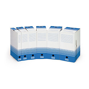 25 boites archives Raja dos 10 cm coloris bleu, le lot