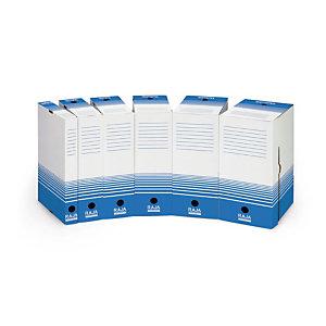 25 boites archives Raja dos 15 cm coloris bleu, le lot