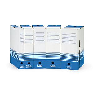 25 boites archives Raja dos 18 cm coloris bleu, le lot