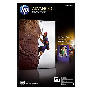 25 feuilles papiers photo 10 X 15 jet d'encre HP Advanced Q8691A, la pochette