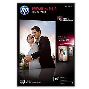 25 feuilles papiers photo 10 x 15 Jet d'encre HP Premium Plus CR677A, la pochette