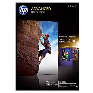 25 feuilles papiers photo  A4 jet d'encre HP Advanced Q5456A, la pochette