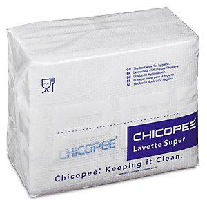 25 lavettes non tissées Super Chicopee blanc