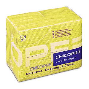 25 lavettes non tissées Super Chicopee jaune