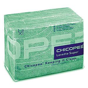 25 lavettes non tissées Super Chicopee vert