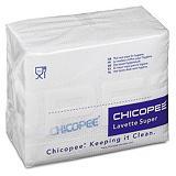 25 lavettes non tissées Super Chicopee blanc##25 witte non-woven vaatdoeken Super Chicopee