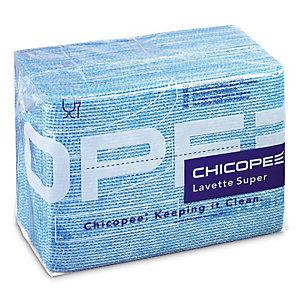 25 lavettes non tissées Super Chicopee bleu