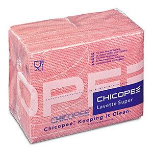 25 lavettes non tissées Super Chicopee rose