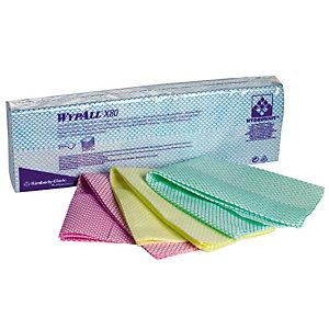 25 lavettes non-tissées Wypall X80 Kimberly-Clark vert