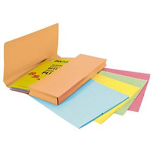 25 mappen met balg SUPER 250 geassorteerde pastelkleuren