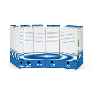 25 Raja archiefdozen rug 18 cm blauwe kleur, per set