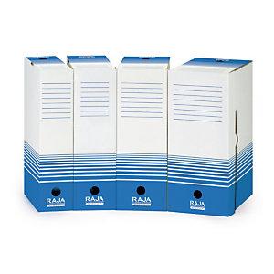 25 Raja archiefdozen rug 8 cm blauwe kleur, per set