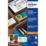 250 cartes de visites microperforées coloris blanc C32010 Avery, la boîte