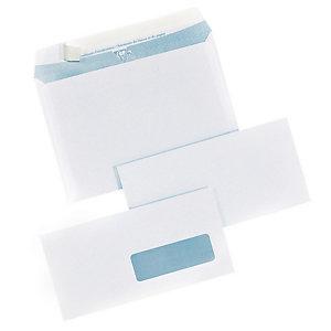 250 extra witte C5 enveloppen Clairefontaine met beschermstrip 162 x 229 mm zonder venster velijn 90 g