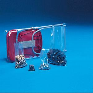 250 sachets plastique multi-usages 100 microns, 50 x 80 cm