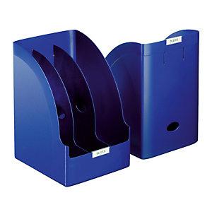 3 documentenhouders Leitz Plus Jumbo kleur blauw