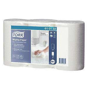 3 mini rollen Tork handdoekpapier met centrale afrolling 1 laag