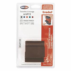 3 navullingen zwarte inkt voor stempel TRODAT® om zelf samen te stellen van 5 lijnen