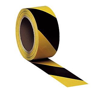 3 rouleaux de bande adhésive de marquage des sols bicolore jaune/ noir