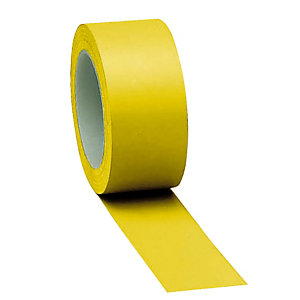 3 standaard vloermarkeringsstroken effen geel