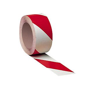 3 tweekleurige standaard vloermarkeringsstroken rood/wit