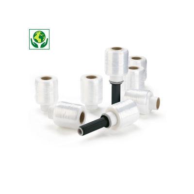 32 minirollen voorgerekte rekfolie 90 mm + 2 handafrollers