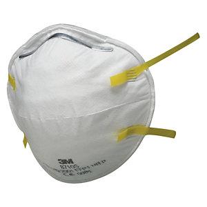 3M™ 8710E Classic Respiratore, Classe FFP1, Senza valvola (confezione 20 pezzi)