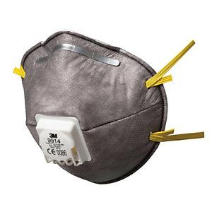 3M™ 9914 Respiratore con carboni attivi, Classe FFP1, Con valvola (confezione 10 pezzi)