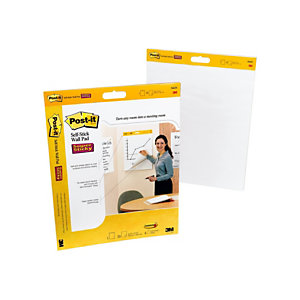 3M™ Bloc de reuniones para pared liso, pack de 2 blocs x 20 hojas, 566, color blanco