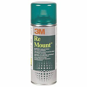 3M™ Colle adhésive non permanente ReMount™ sous forme de spray aérosol 400ml