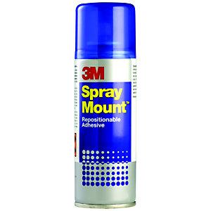 3M™ Colle adhésive permanente SprayMount™ sous forme de spray aérosol 400ml transparent