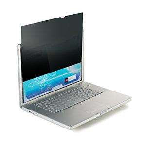 """3M™ PF15.4W Filtro Privacy per notebook widescreen da 15,4"""", Senza cornice, Nero"""