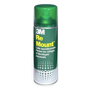 3M™ Spray adhesivo ReMount, lata de spray en aerosol de 400ml, adhesivo no permanente, transparente