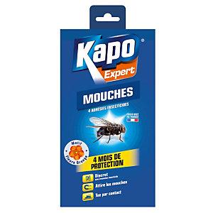 4 adhésifs anti-mouches Kapo