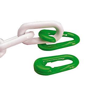 4 anneaux brisés verts diamètre 8 mm
