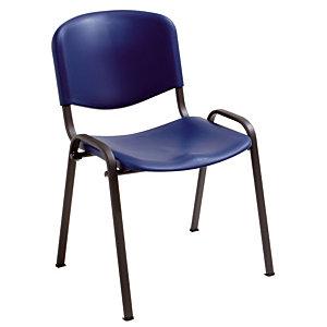 4 blauwe stoelen Joker