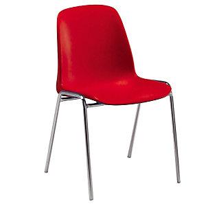 4 chaises Séléna rouges