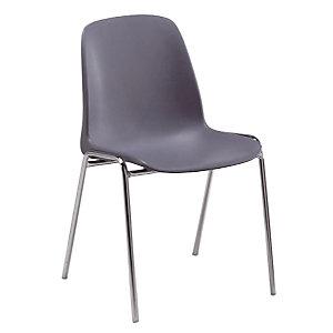 4 grijze stoelen Séléna