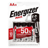 4 piles alcalines Energizer Max LR 06 - type AA