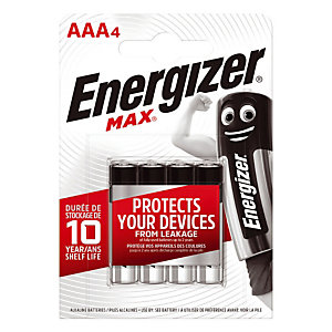 4 piles alcalines Energizer Max LR03 - type AAA
