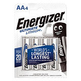 4 Piles Energizer Ultimate Lithium AA