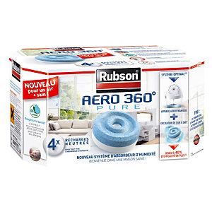 4 recharges Rubson pour absorbeur d'humidité Aéro 360° Pure