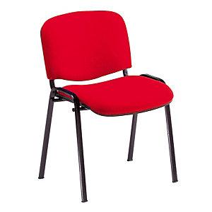 4 rode stoelen Comfort