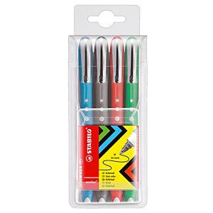 4 rollers Stabilo Worker Colorful geassorteerde kleuren