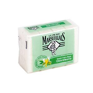 4 savons Le Petit Marseillais parfum chèvrefeuille de 100 g