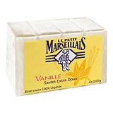 4 savons Le Petit Marseillais parfum vanille de 100 g
