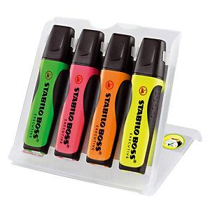 4 tekstmarkers Stabilo Boss Executive geassorteerde kleuren