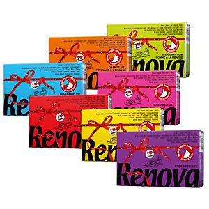 40 geassorteerde packs van 6 etuis van 9 geparfumeerde zakdoeken Renova Red Label